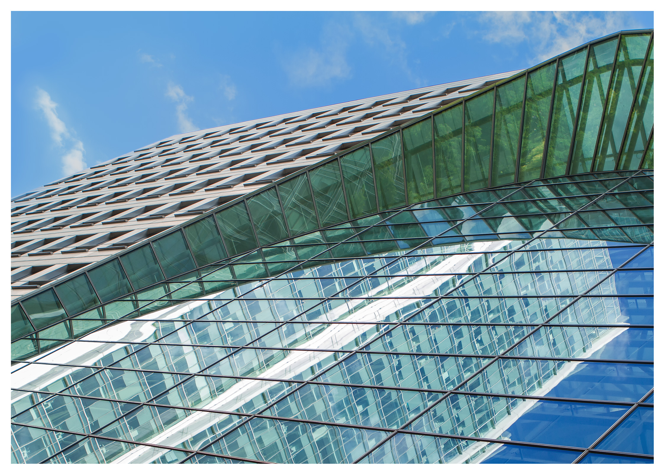 London Architecture, East Wintergarden, Bank Street, Canary Wharf, London.