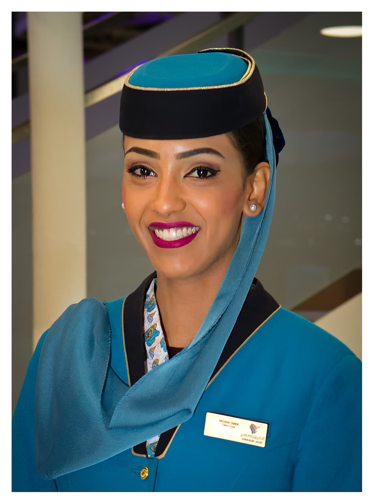 Portrait photography: Oman Airlines Hostess