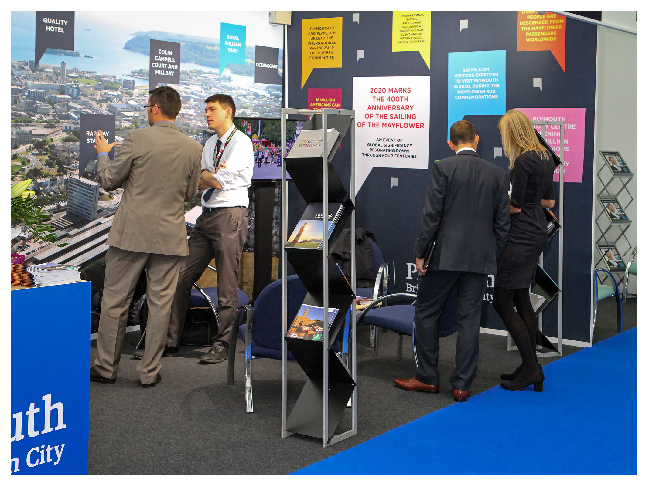 Exhibition photography: Plymouth City Exhibition stand, MIPIM, London 2016