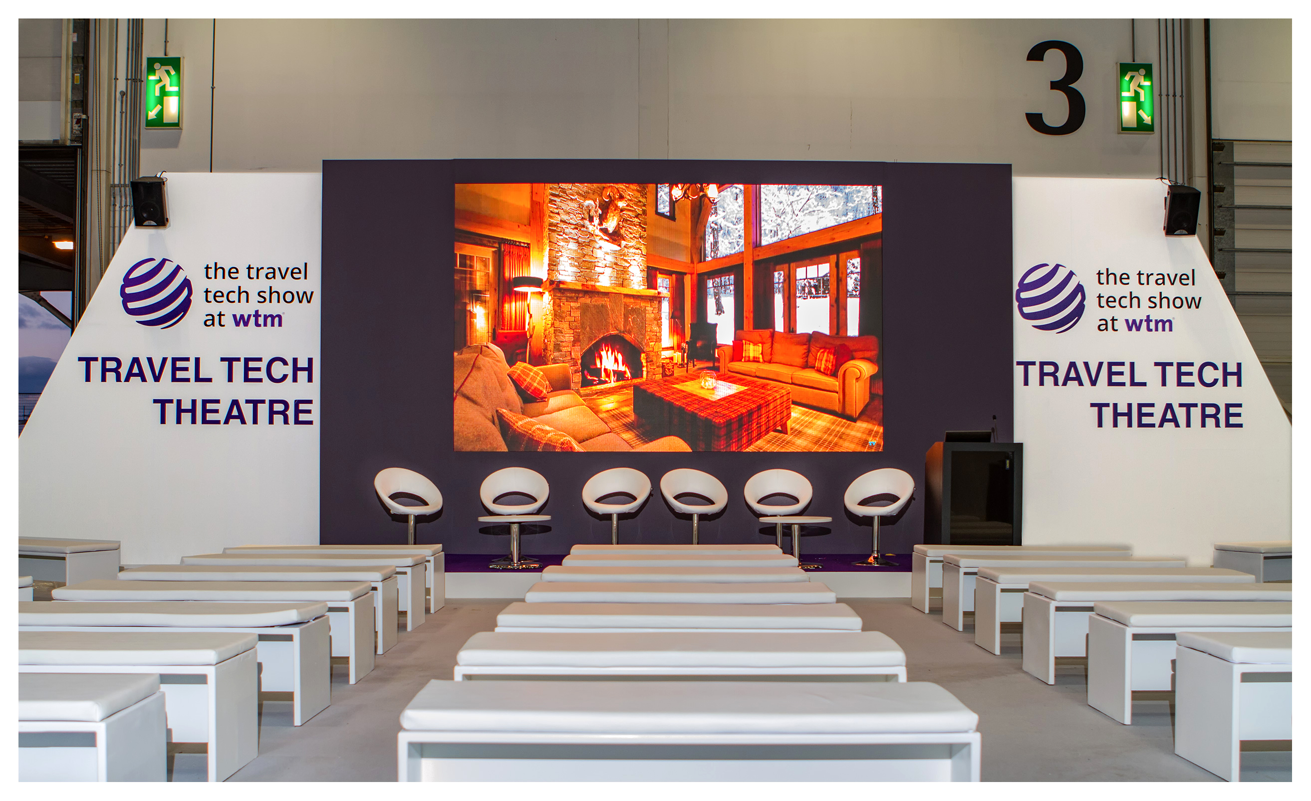 Exhibition photography: Travel Tech Theatre, 2017 World Travel Market, ExCel London
