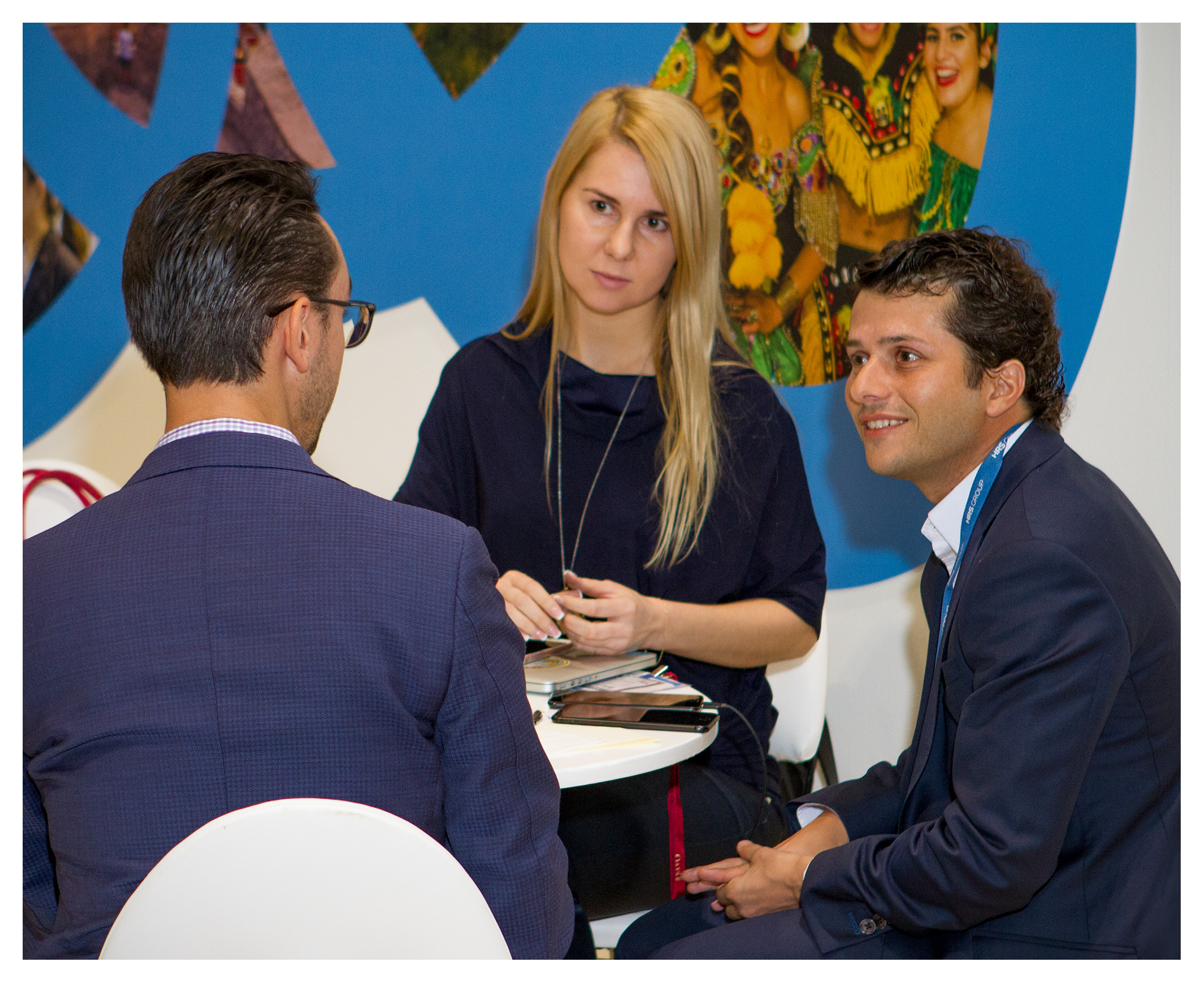 Exhibition photography: Networking at Buyers' Lounge, World Travel Market 2017, ExCel London