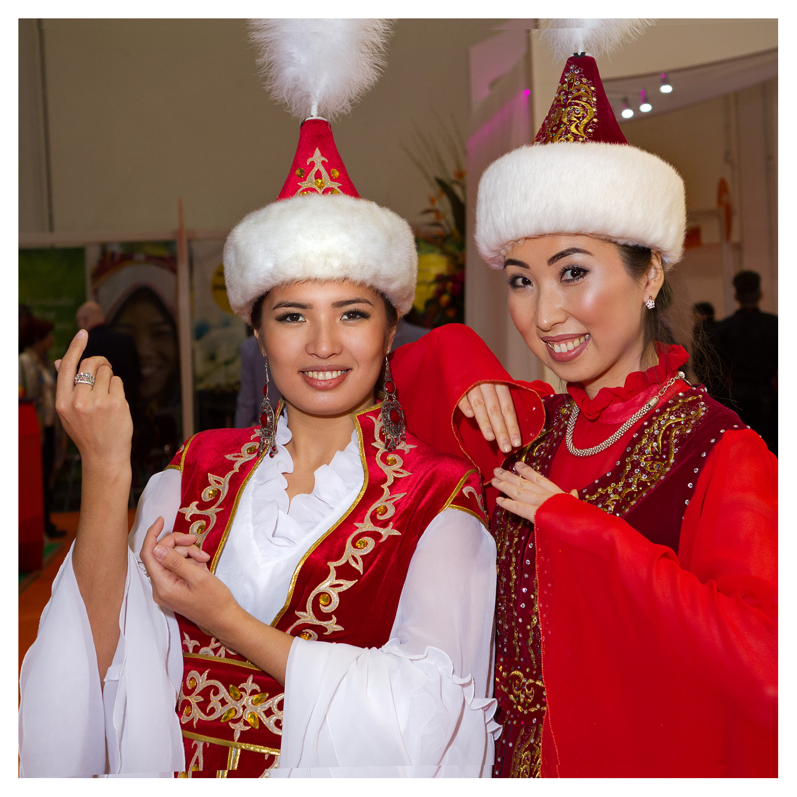 Editorial (portrait) photography: Beautiful performers at the Kazakhstan stand, World Travel Market 2017, ExCel London