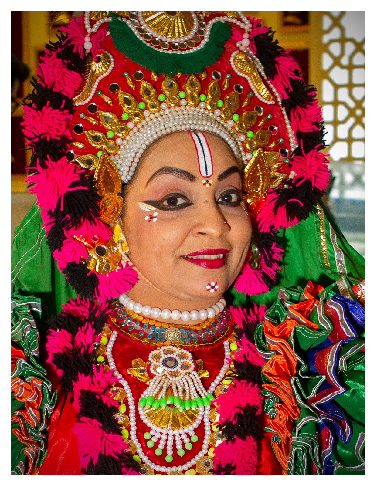 Editorial (portrait) photography: Kamataka dancer promoting the India stand. World Travel Market 2017, ExCel London