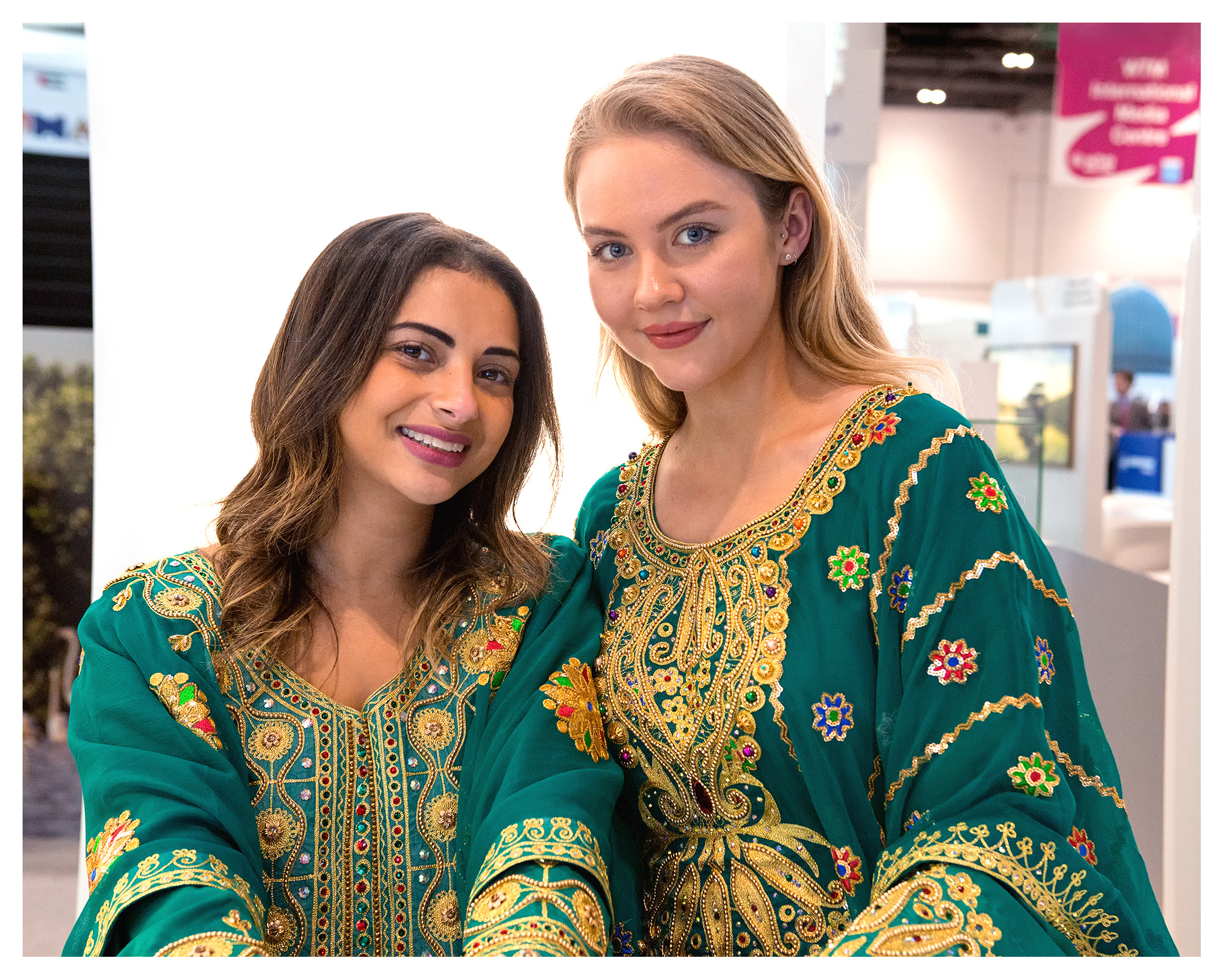 PR photography: Beautiful hostesses, World Travel Market 2018, ExCel London