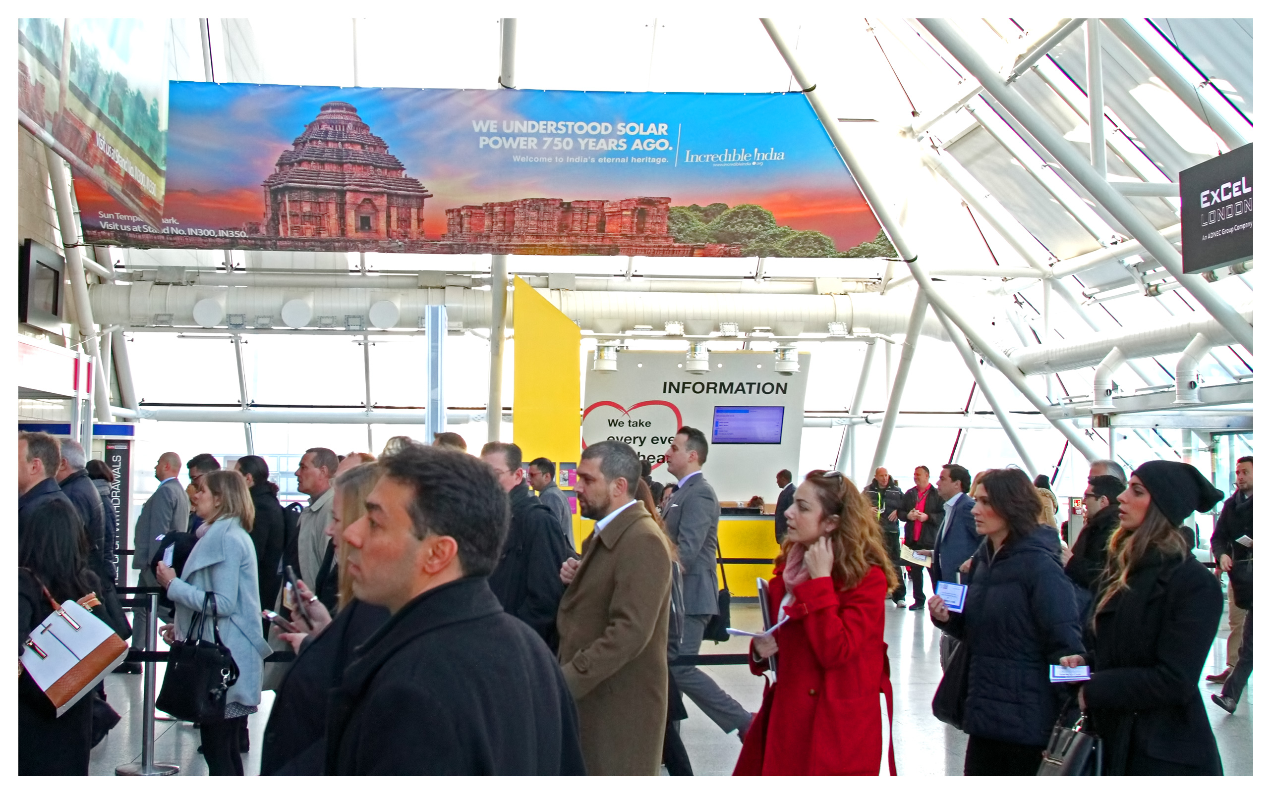 Editorial photography: Keen Visitors pouring into the World Travel Market 2017 show, ExCel London