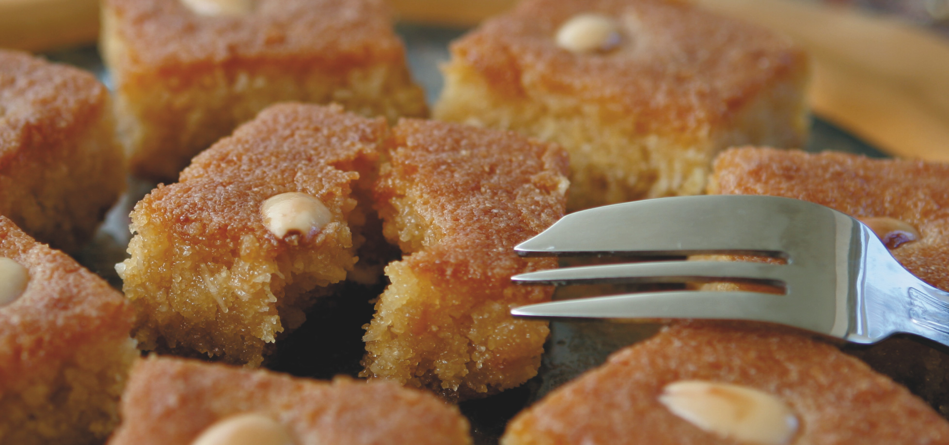 Harissa, Lebanese cake with almonds.